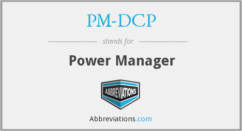 PM-DCP - Power Manager