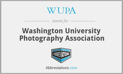 WUPA - Washington University Photography Association