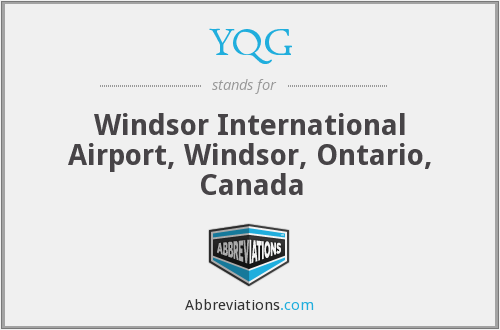 YQG - Windsor International Airport, Windsor, Ontario, Canada