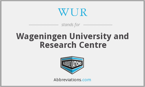 What does WUR stand for?
