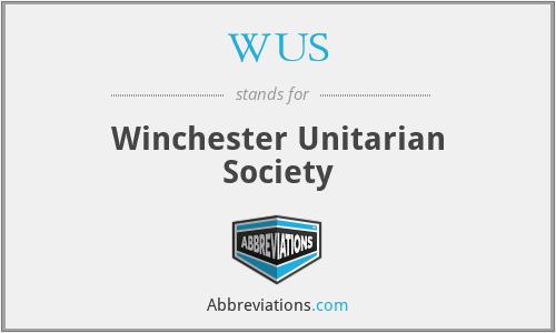WUS - Winchester Unitarian Society