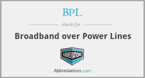 BPL - Broadband over Power Lines