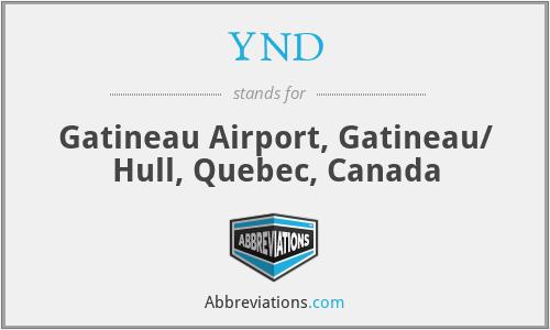 YND - Gatineau Airport, Gatineau/ Hull, Quebec, Canada
