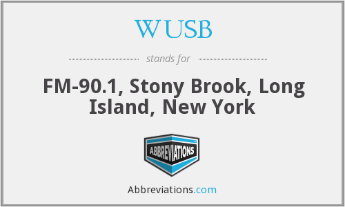 WUSB - FM-90.1, Stony Brook, Long Island, New York