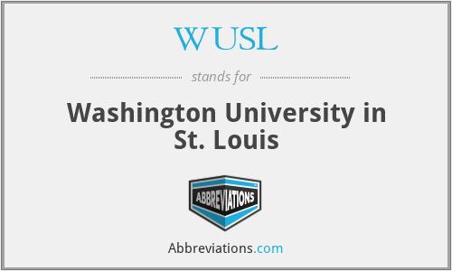 WUSL - Washington University in St. Louis