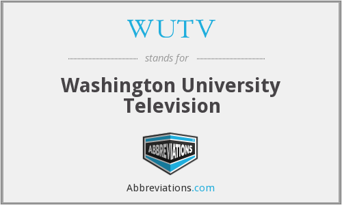 WUTV - Washington University Television