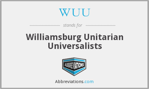 WUU - Williamsburg Unitarian Universalists