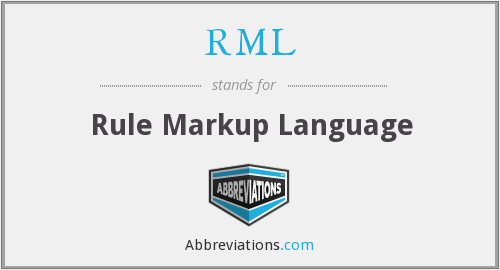 RML - Rule Markup Language