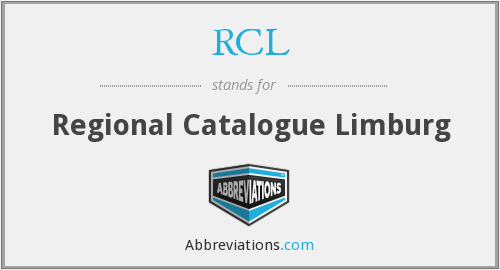 RCL - Regional Catalogue Limburg
