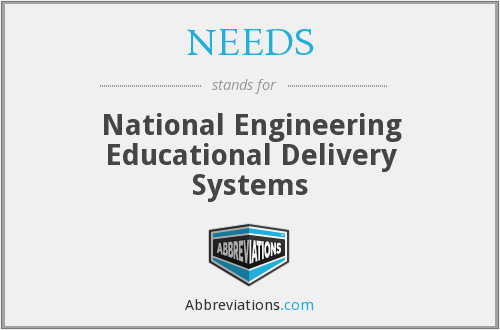 NEEDS - National Engineering Educational Delivery Systems