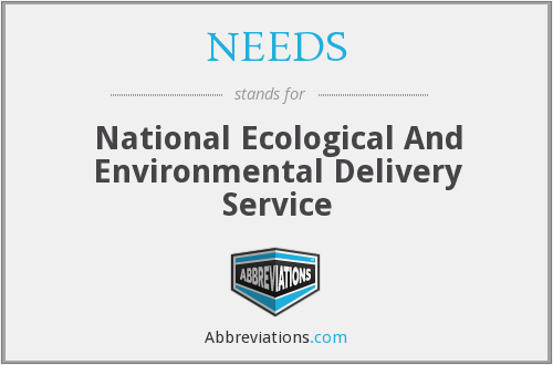NEEDS - National Ecological And Environmental Delivery Service