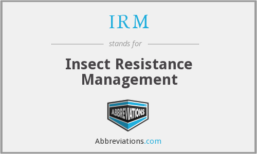IRM - Insect Resistance Management