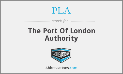 PLA - The Port Of London Authority