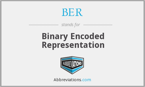 BER - Binary Encoded Representation