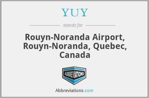 YUY - Rouyn-Noranda Airport, Rouyn-Noranda, Quebec, Canada