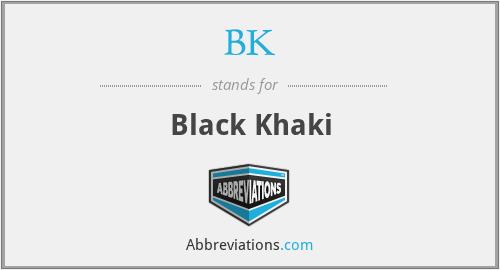BK - Black Khaki