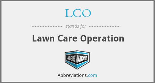 LCO - Lawn Care Operation