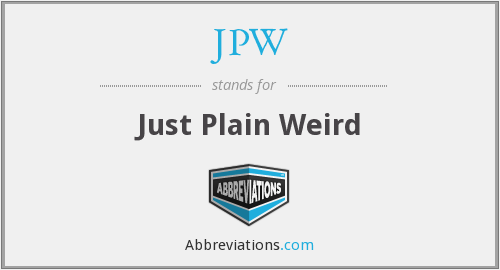 What does JPW stand for?
