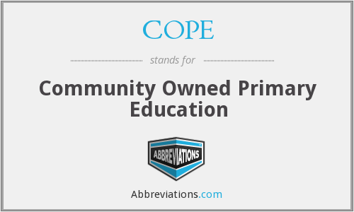 COPE - Community Owned Primary Education