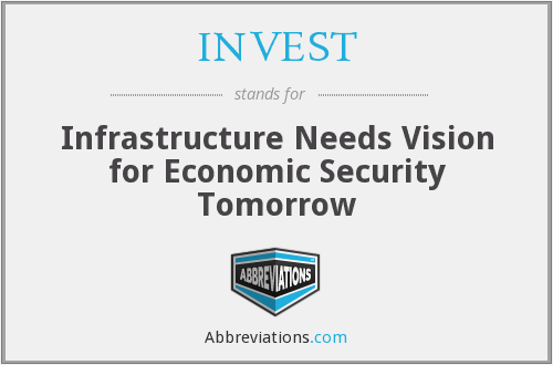 INVEST - Infrastructure Needs Vision for Economic Security Tomorrow