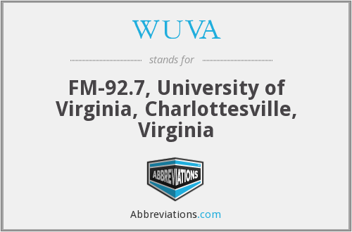 WUVA - FM-92.7, University of Virginia, Charlottesville, Virginia