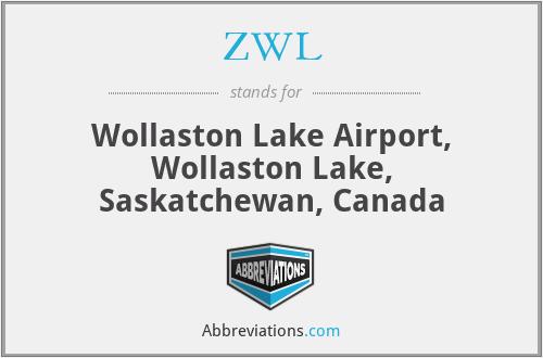 ZWL - Wollaston Lake Airport, Wollaston Lake, Saskatchewan, Canada