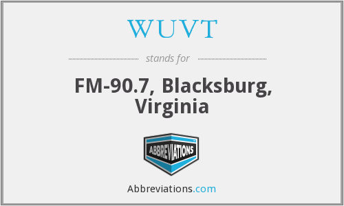 WUVT - FM-90.7, Blacksburg, Virginia
