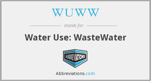 WUWW - Water Use: WasteWater