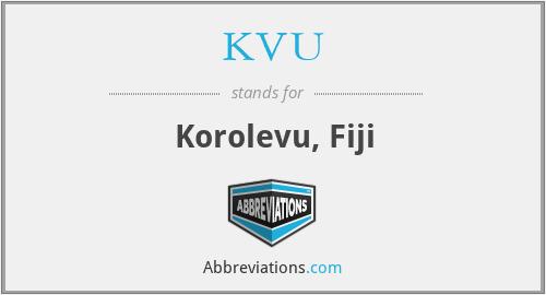 KVU - Korolevu, Fiji