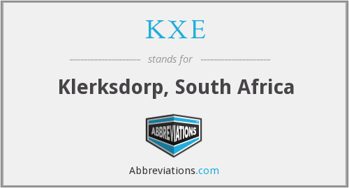 KXE - Klerksdorp, South Africa