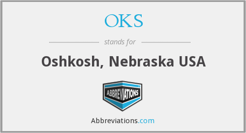OKS - Oshkosh, Nebraska USA