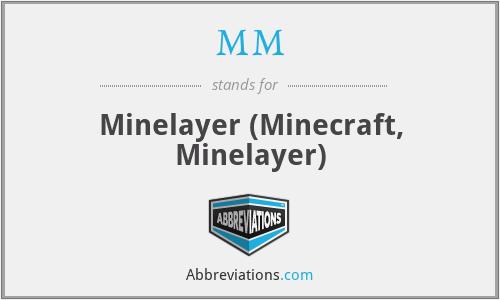 MM - Minelayer (Minecraft, Minelayer)