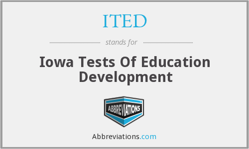 ITED - Iowa Tests Of Education Development