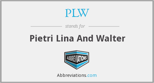 PLW - Pietri Lina And Walter
