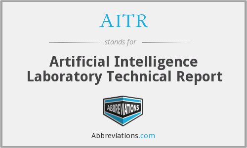 AITR - Artificial Intelligence Laboratory Technical Report
