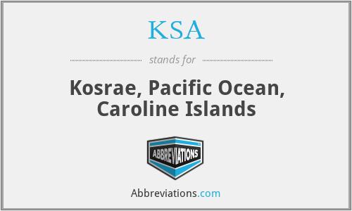KSA - Kosrae, Pacific Ocean, Caroline Islands