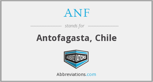 What does ANF stand for?
