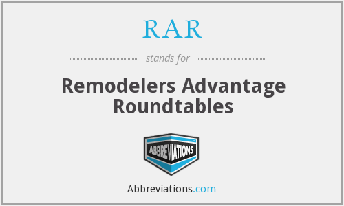 RAR - Remodelers Advantage Roundtables