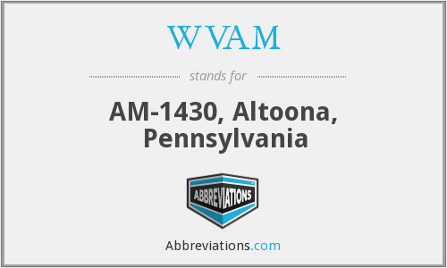 WVAM - AM-1430, Altoona, Pennsylvania