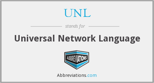 UNL - Universal Network Language