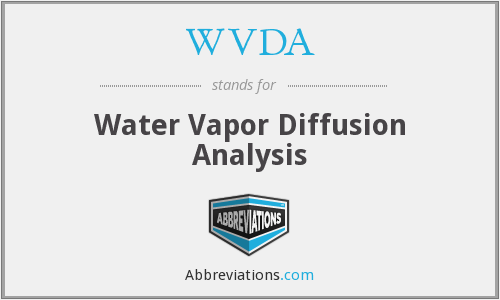WVDA - Water Vapor Diffusion Analysis