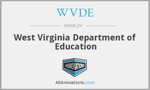 WVDE - West Virginia Department of Education