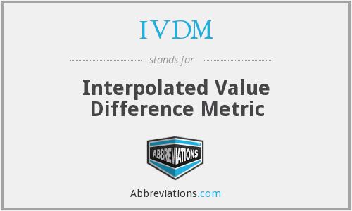 IVDM - Interpolated Value Difference Metric