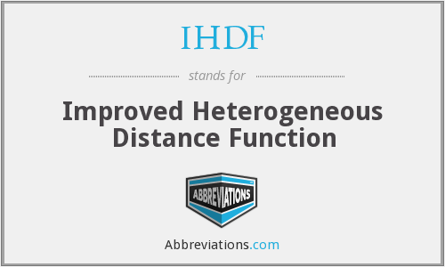 What does IHDF stand for?