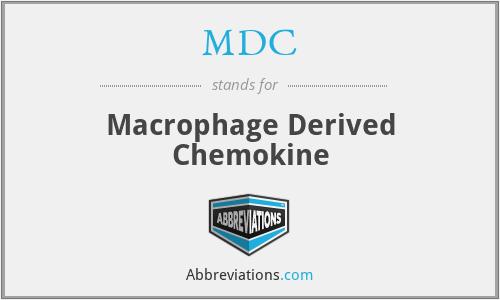 MDC - Macrophage Derived Chemokine