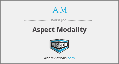 What does modality stand for?