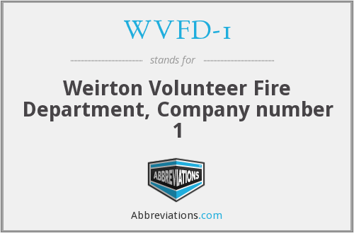 What does WVFD-1 stand for?