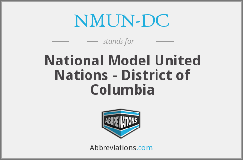 What does NMUN-DC stand for?