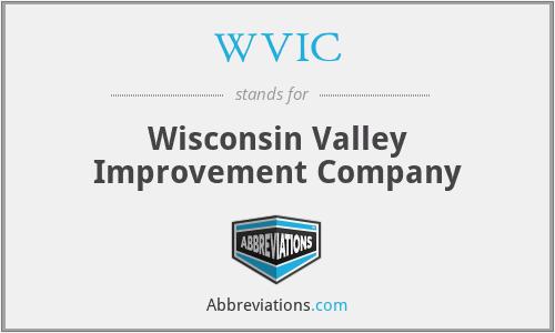 WVIC - Wisconsin Valley Improvement Company