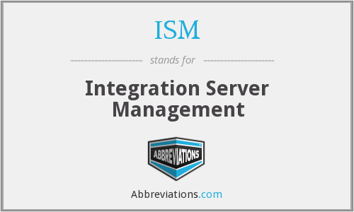 ISM - Integration Server Management